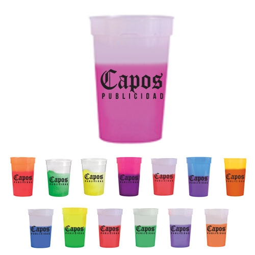 Color Changing Plastic Stadium Cup - 17 oz. - large 1