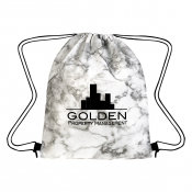 Marbled Non-Woven Drawstring Bag