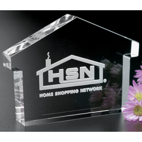 House Paperweight Anniversary Award - 4 in. - large 1