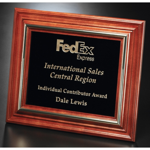 Americana Dedication Plaque with Black Glass - 11-3/4 in. x 9-3/4 in. - large 1