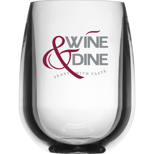 Shatterproof Stemless Wine Glass - 12 oz. - large 1