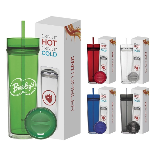 Tube Tumbler Hot & Cold Gift Set - 16 oz. - large 1