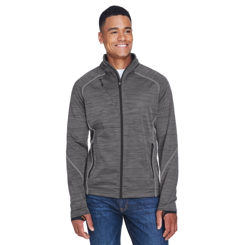 North End Men's Flux Mélange Bonded Fleece Jacket - large 1