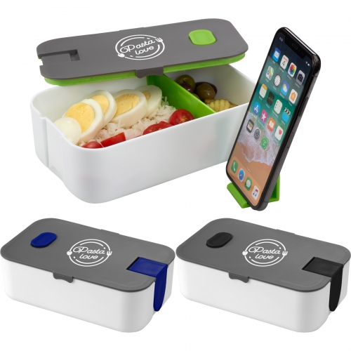 2 Compartment Bento Box with Phone Stand - large 1