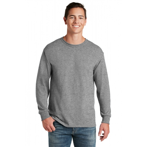 50/50 Cotton/Poly Long Sleeve T-Shirt - large 1