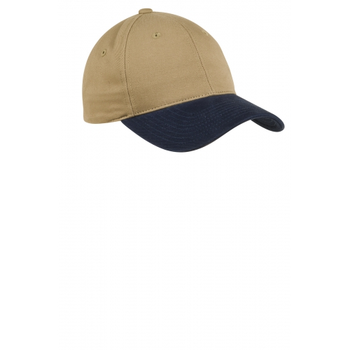 Two-Tone Brushed Twill Cap - large 1