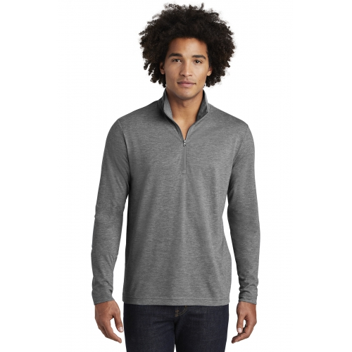 Men's PosiCharge® Tri-Blend Wicking 1/4-Zip Pullover - large 1
