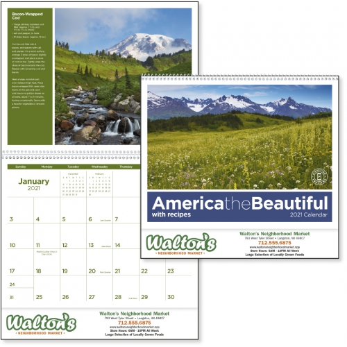 America the Beautiful with Recipes Calendar - large 1