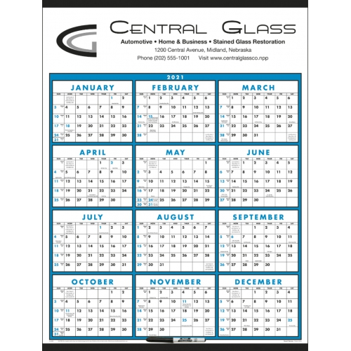 Span-A-Year Calendar (Laminated with Marker) - large 1