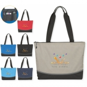 "Zippered Everyday Tote Bag - 17.5"" x 14"""