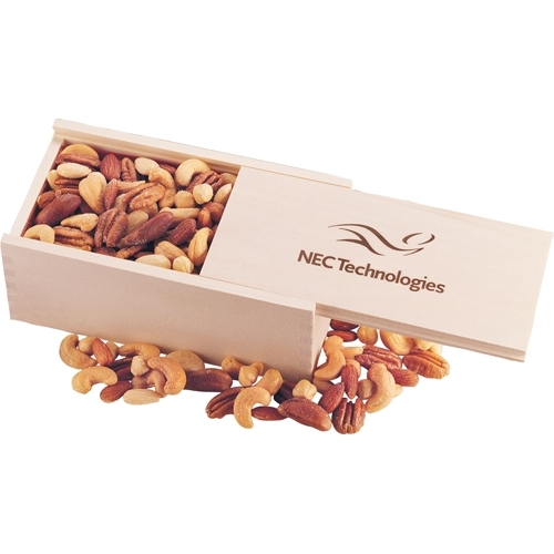 Wooden Collector's Box with Deluxe Mixed Nuts - large 1